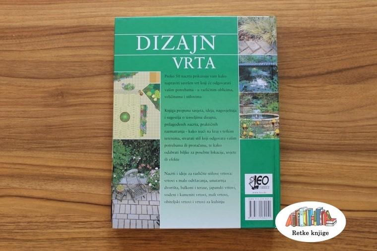 Zadnja korica knjige dizajn vrta