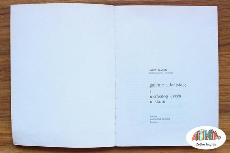 Naslovna strana knjige o saksijskom cveću