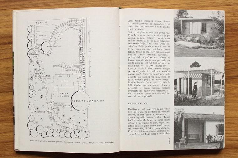 šema i fotografije jednog uređenog vrta