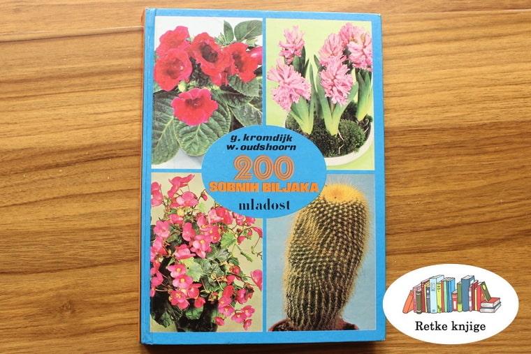 knjiga sa prikazanih dvesto sobnih biljaka, tvrde korce