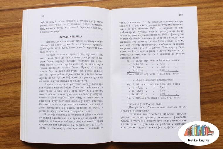 opis računanja materijala za košnicu sa tabelom