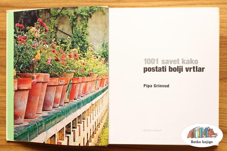 """naslovna strana knjige """"1001 savet kako postati bolji vrtlar"""""""