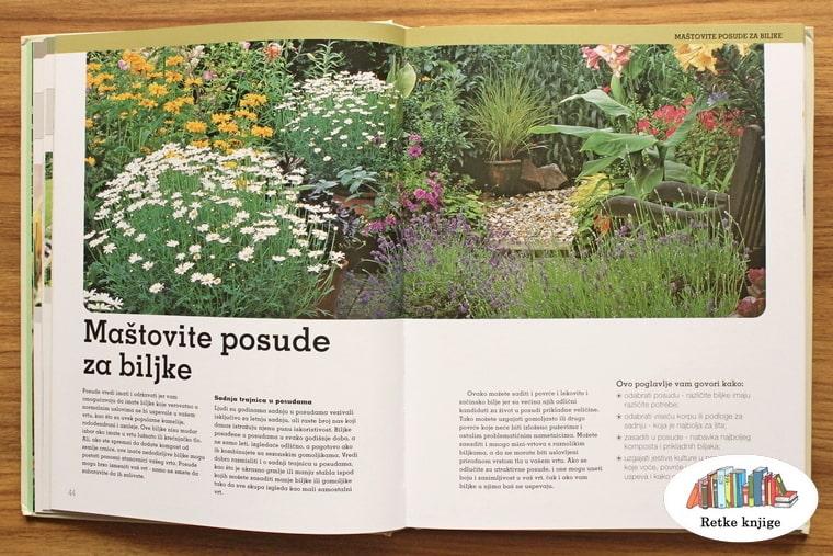 poglavlje o posudama za cveće u dvorištu