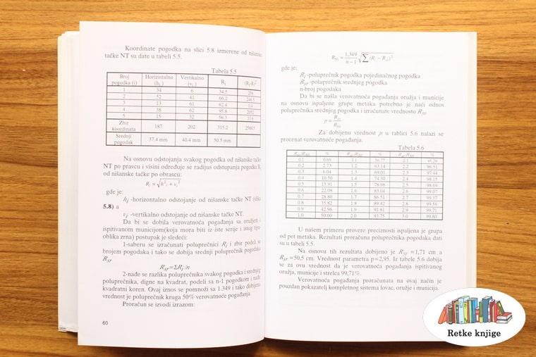 tabele sa informacijama o kalibrima za karabin
