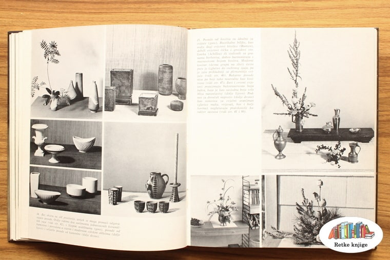 crno bele fotografije posuda za ikebane