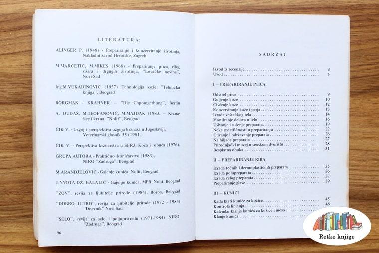spisak literature i sadržaj