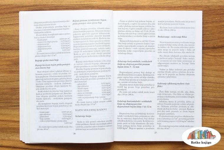 opis raznih materijala za molovanje
