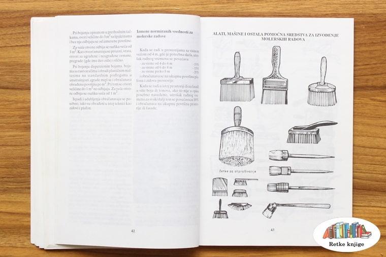 predstavljanje molerskih četki sa crtežom