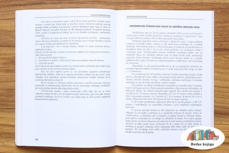poglavlje o pripremama za dresuru