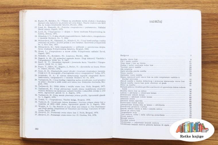 spisak literature i sadržaj knjige