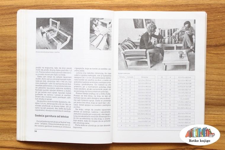 fotografije fotelja i neka tabela
