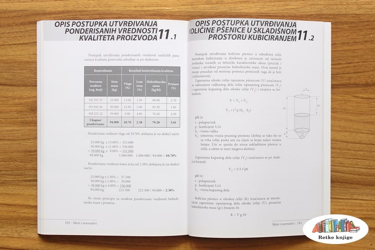 tabele koje opisuju postupke pri uzorkovanju i proveri kvalitete