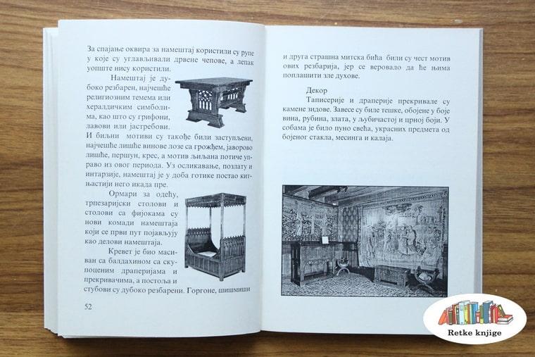 prikaz eneterijera i namešataja iz perioda gotike
