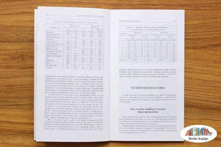 tabele o urošku hranljivih materija pri prirastu