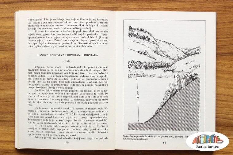 prikaz preseka ribnjaka i opis