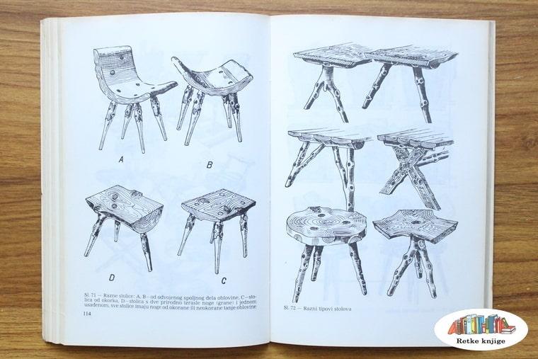 prikaz stolica za eneterijer od drveta